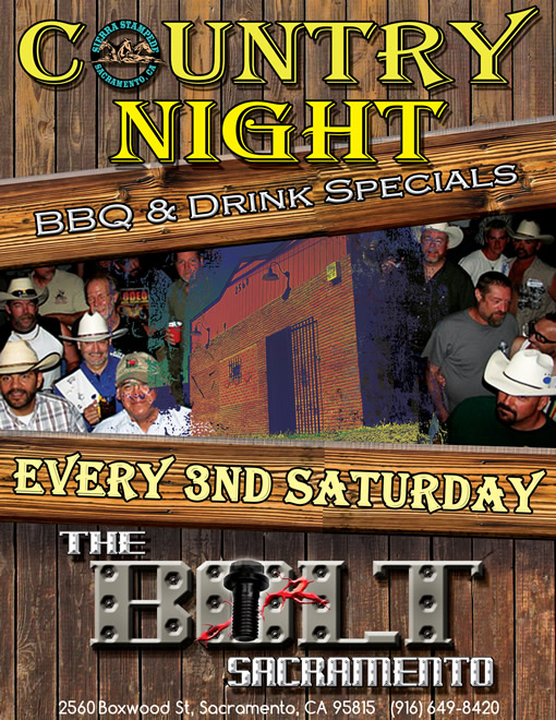 country night at the bolt, every 3rd saturday